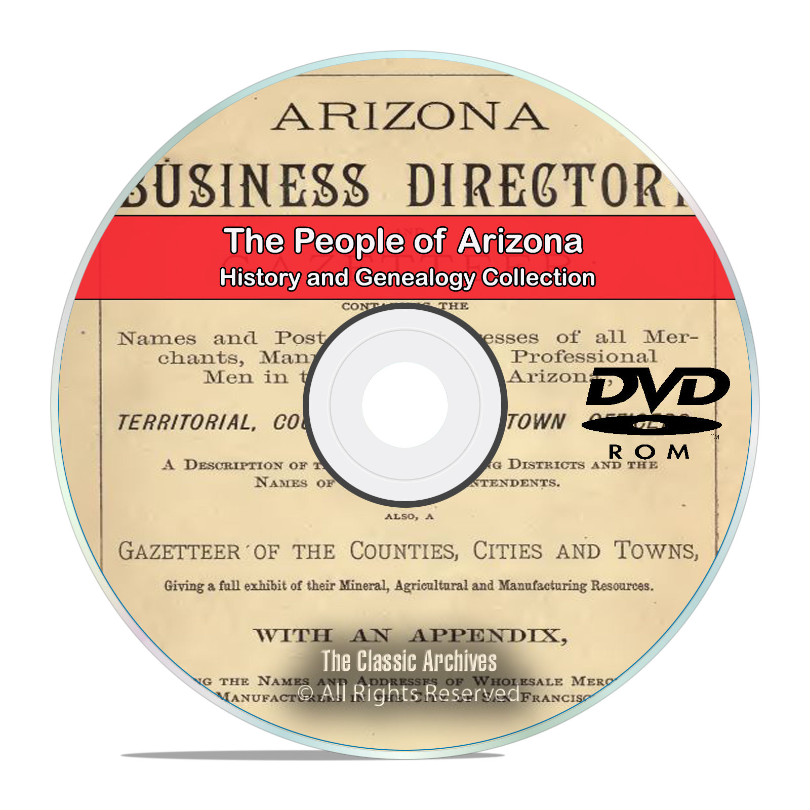 Arizona, AZ, People, Cities and Towns History and Genealogy 89 Books DVD
