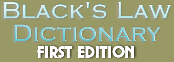 IMMEDIATE DOWNLOAD - Black's Law Dictionary, 1st Edition