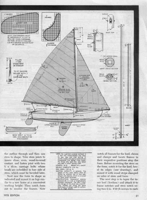 Classic Boat Plans, How To Build a Fishing Boat, Rowboat ...