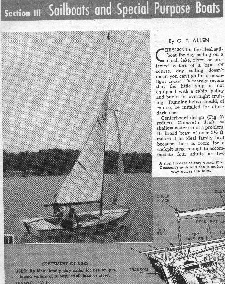 Crescent Sailboat Plans