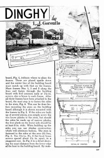 Dinghy Sailboat Plans