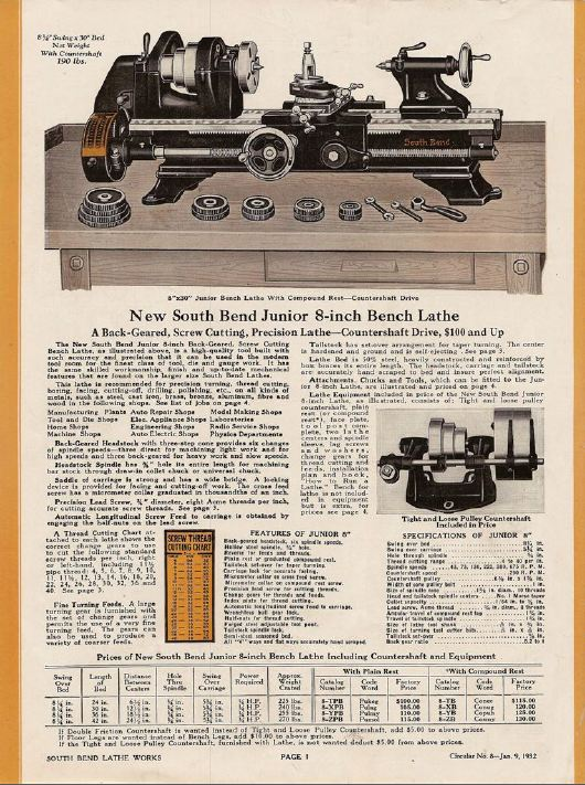 south bend lathe books