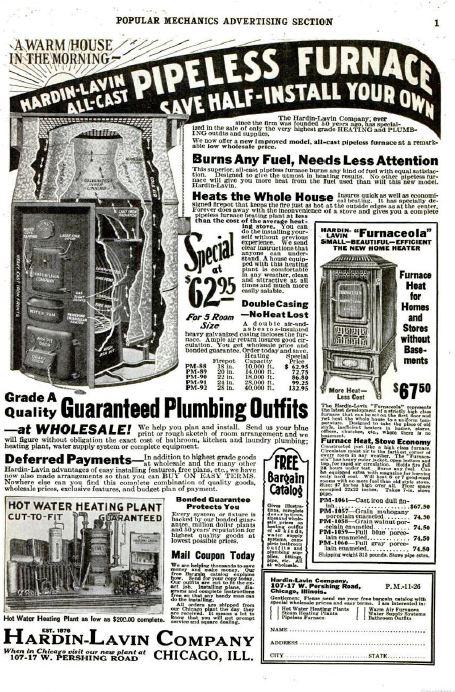 mechanics plan popular vintage
