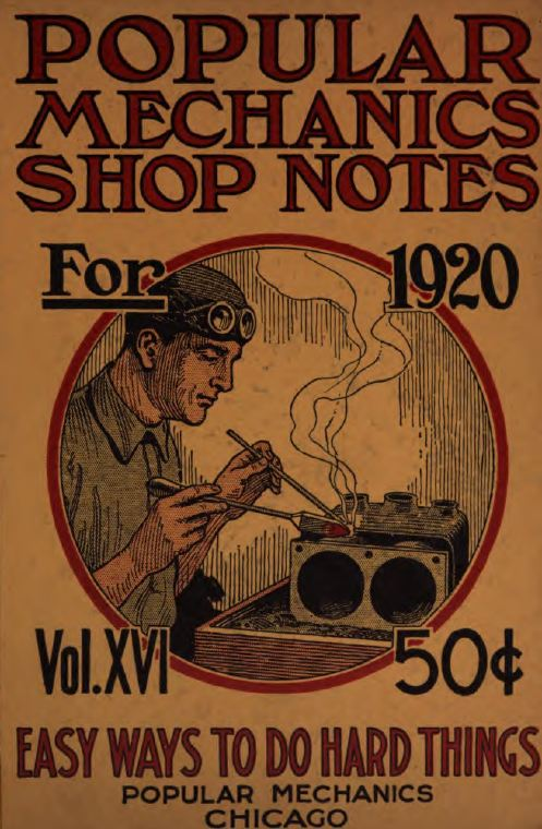 vintage popular mechanics shop notes  1905