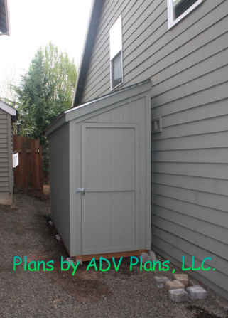 4x10 Slant Shed in Alley