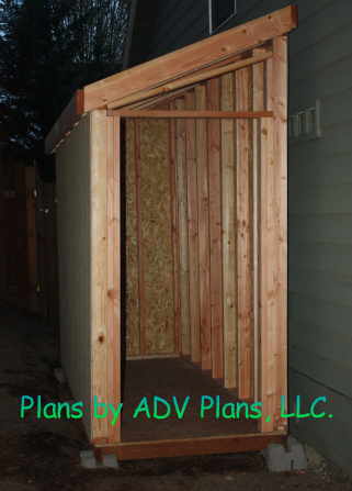 4x10 Framing of Shed Plan