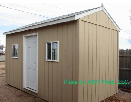 SAMPLE Shed Plans 11, 8x12 Gable Shed, Medium Size Shed, DOWNLOAD