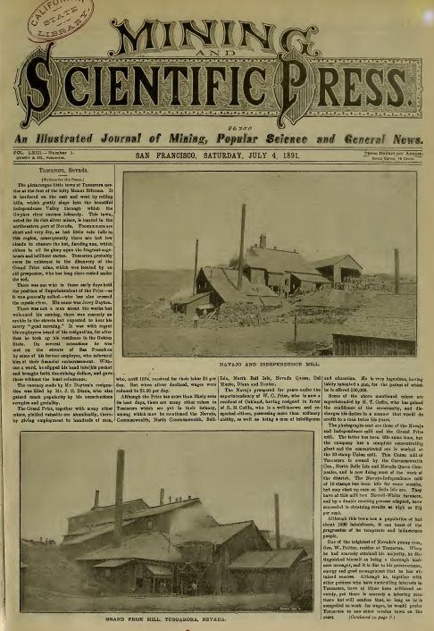 vintage mining press newspapers