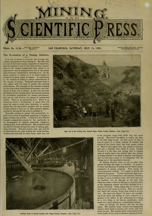 vintage mining press newspapers