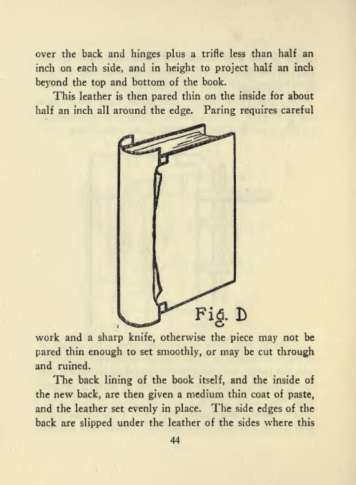 vintage bookbinding books