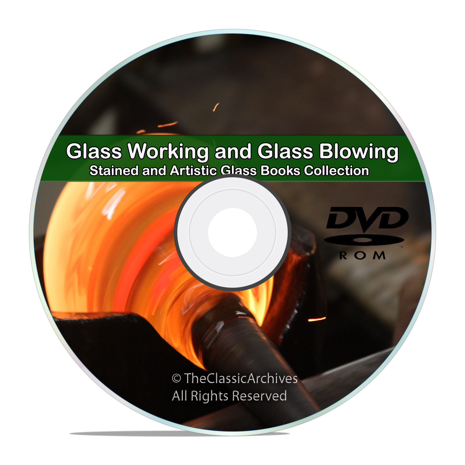 The Art of Glass Blowing, 44 Books, 80 Instructional Videos Tutorials, DVD