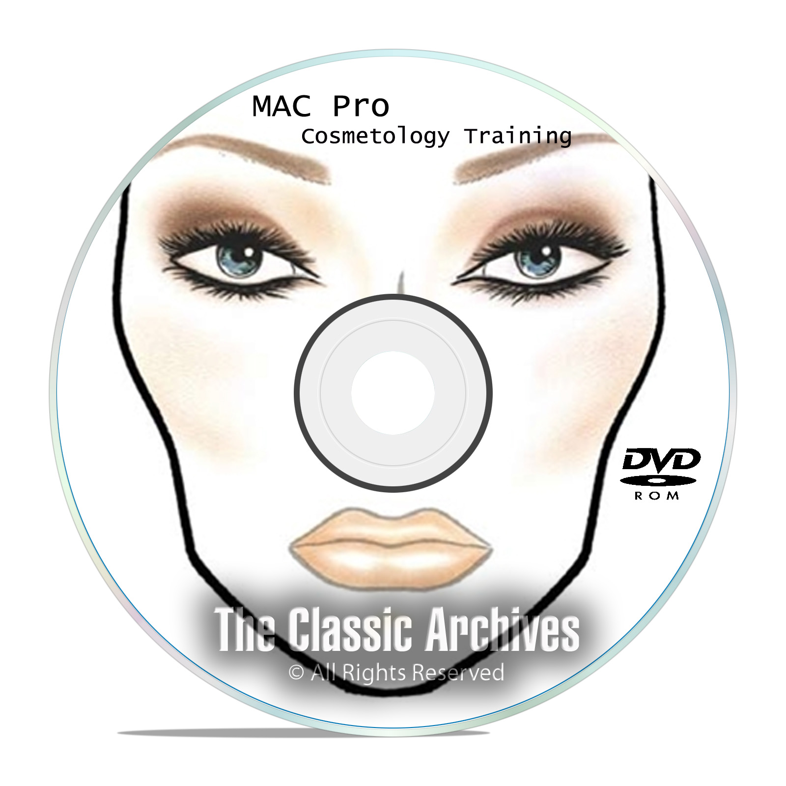1800+ Makeup Face Charts - MAC Pro Bible Cosmetics Manual Training DVD