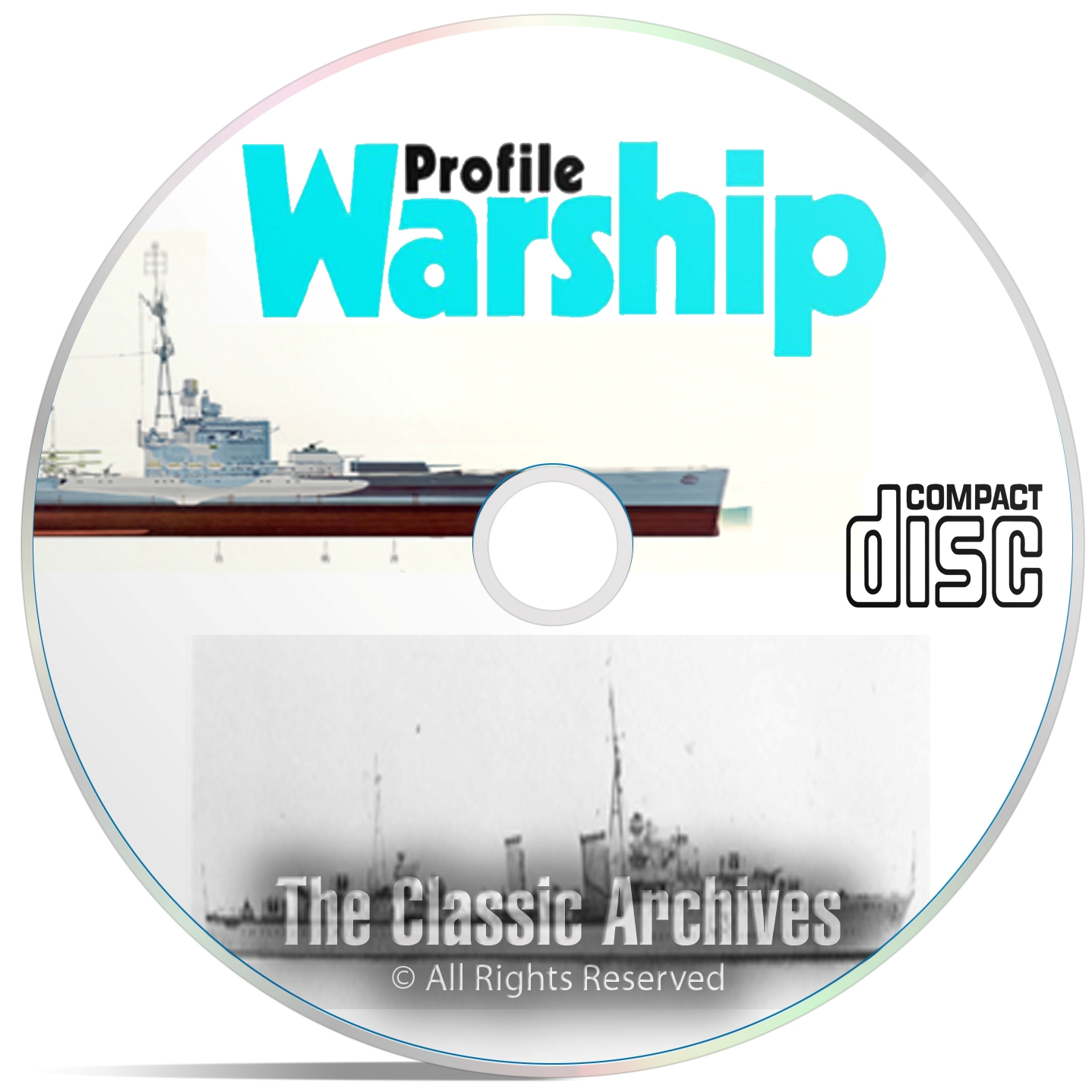 Profile Publicatio​ns Warships - 40 Volume - Ship War History WW1 WW2 DVD