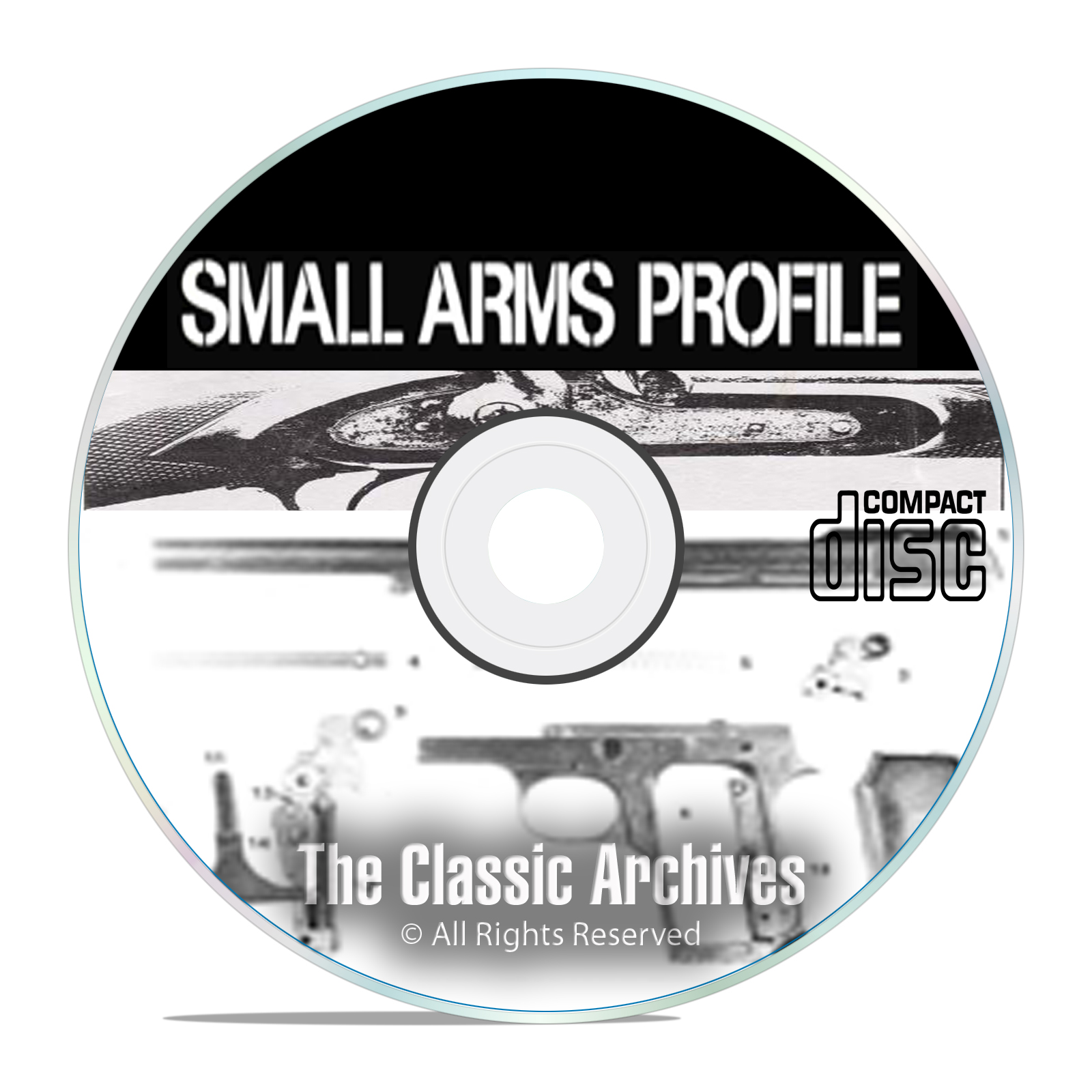 Profile Publicatio​ns Small Arms - 22 Volumes - Antique Gun History DVD