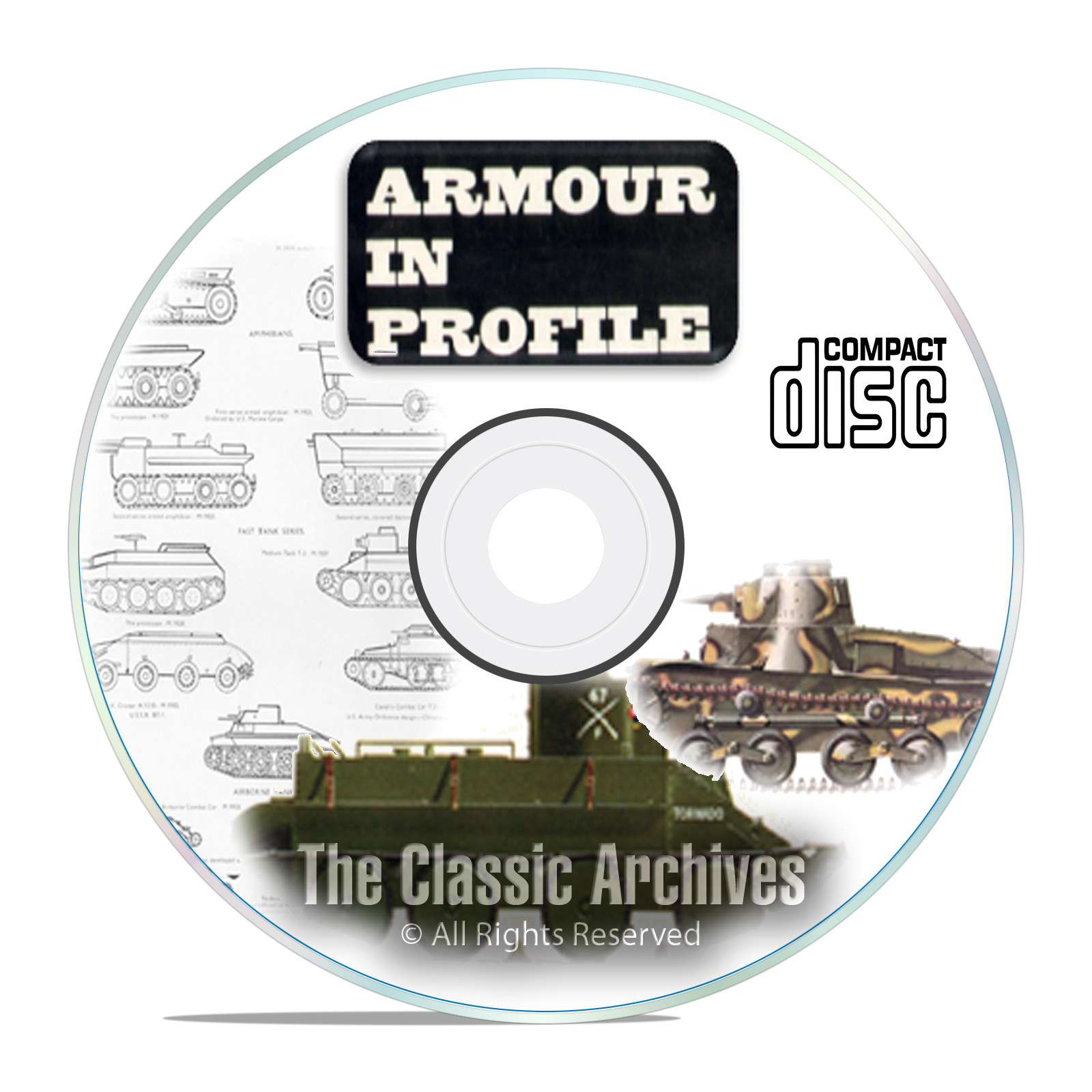 Profile Publicatio​ns Armour in Profile - 24 Volume- Tank Military History - Click Image to Close