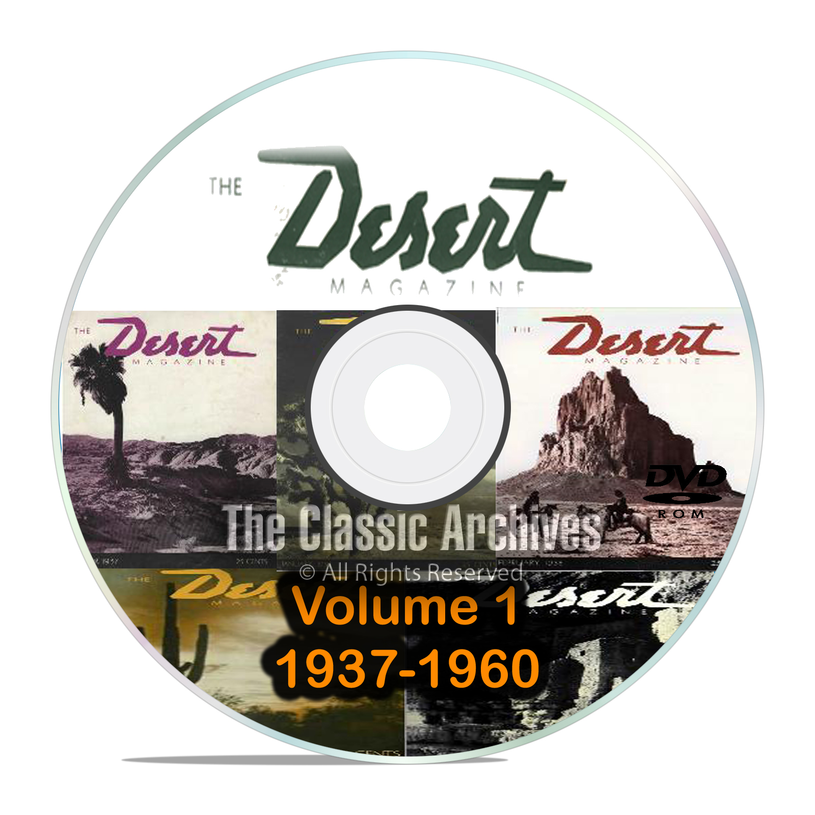 Desert Magazine, 1937-1960, Volume 1, Back Issues, Treasure Hunting DVD