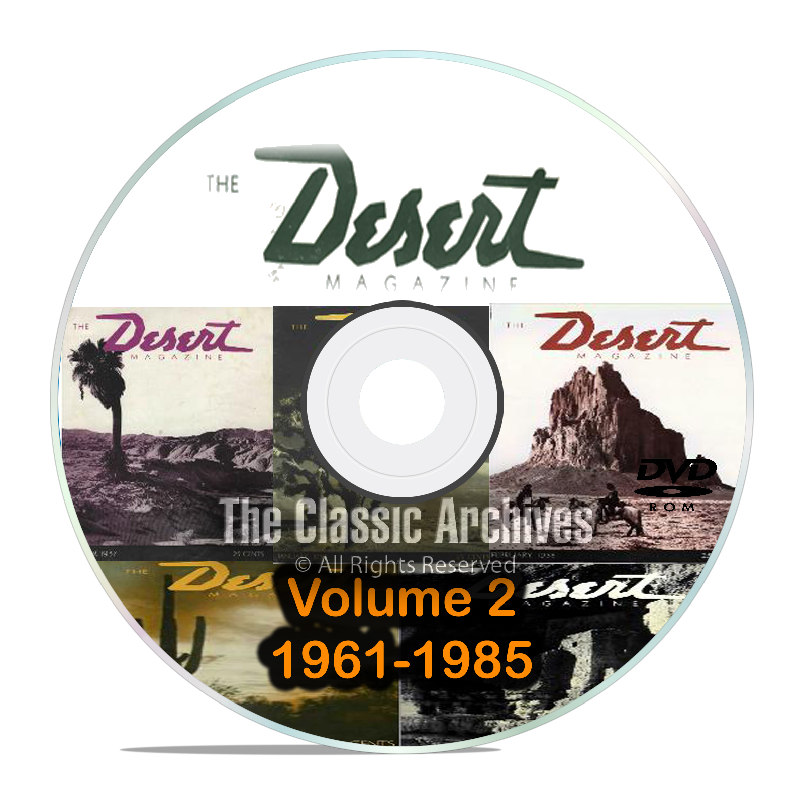 Desert Magazine, 1961-1985, Volume 2, Back Issues, Treasure Hunting DVD