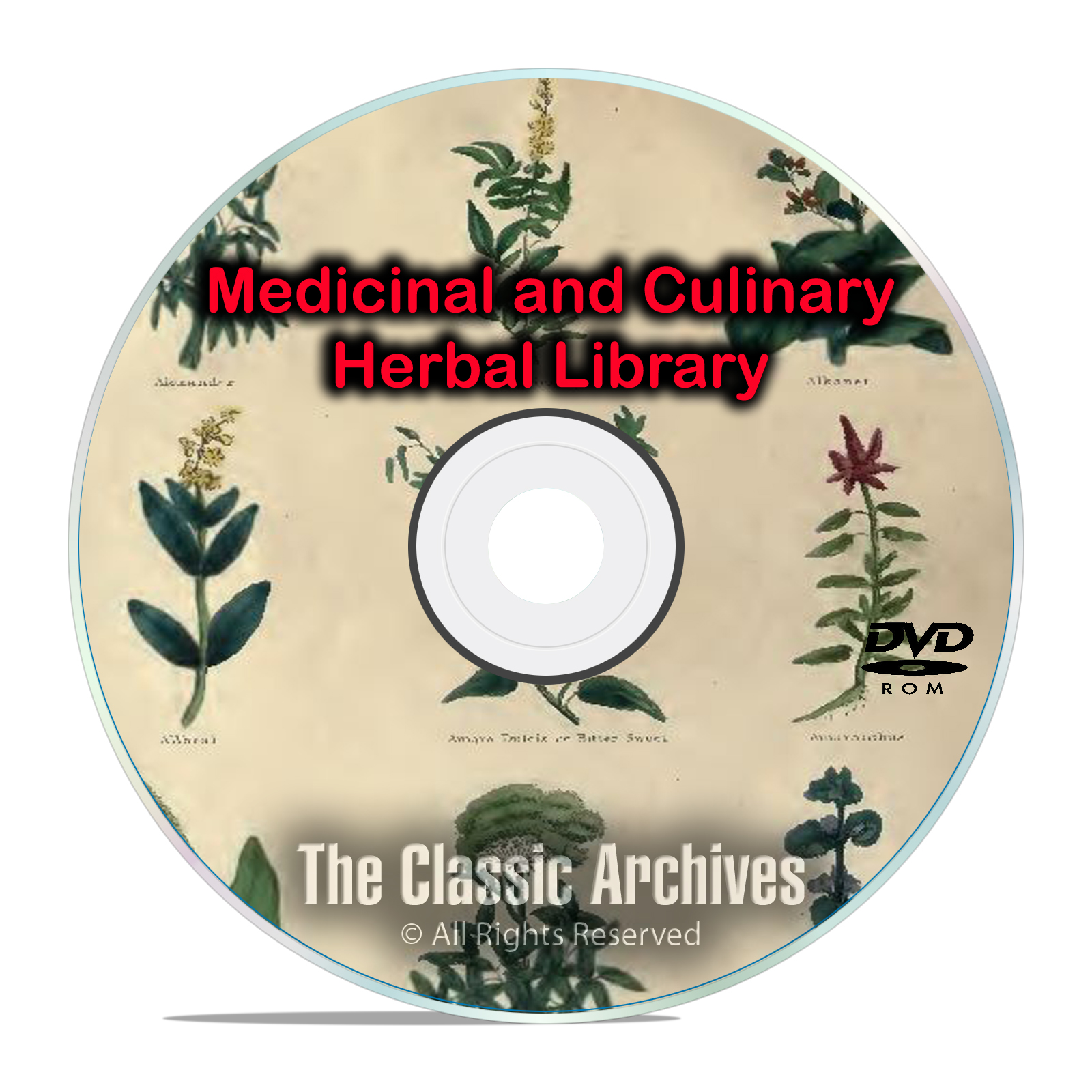 96 Books, Ultimate Library, Herbs Herbal Herbalism, Remedies, Medicines DVD