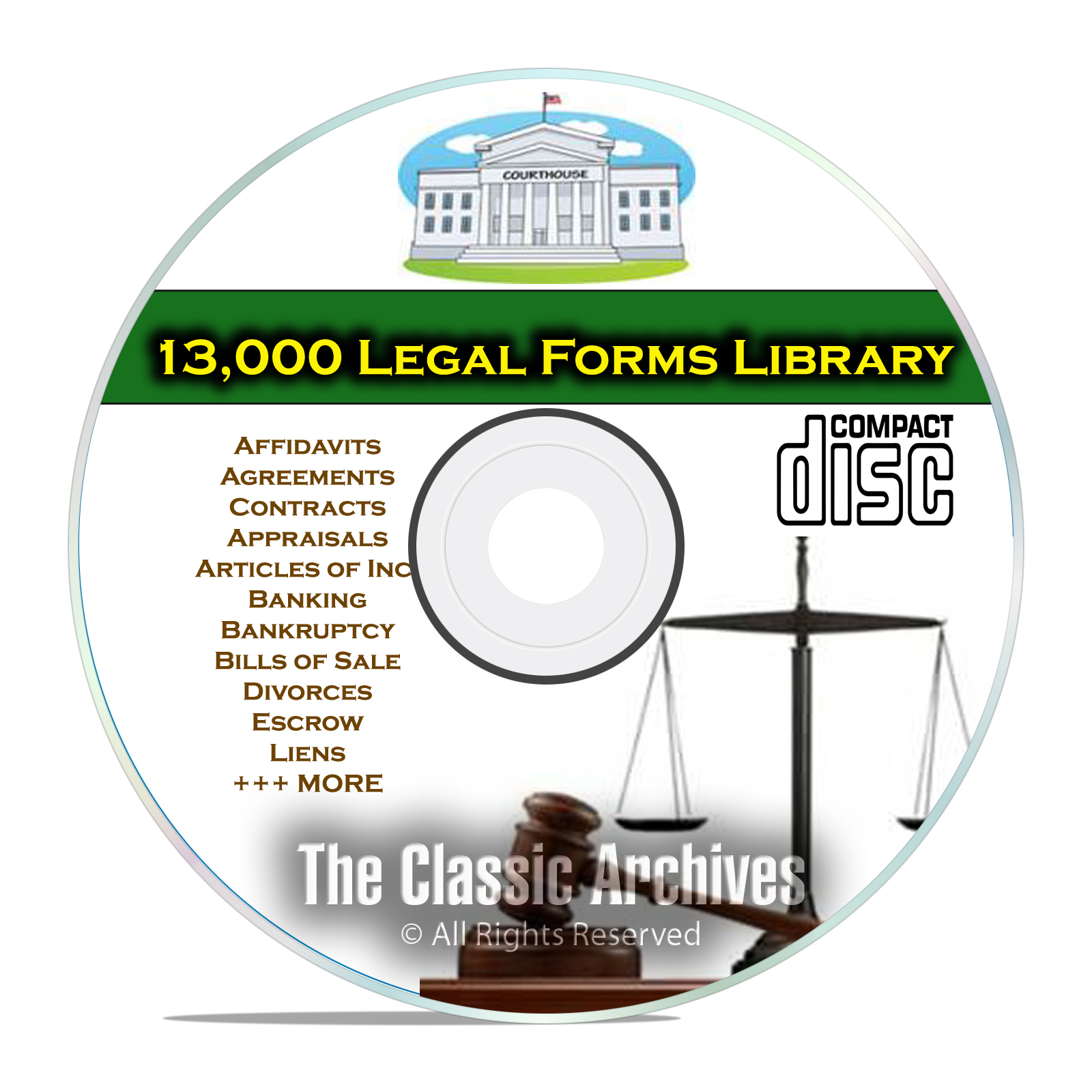 13,000 Printable Editable Legal Forms, Business, Bankruptcy Personal CD
