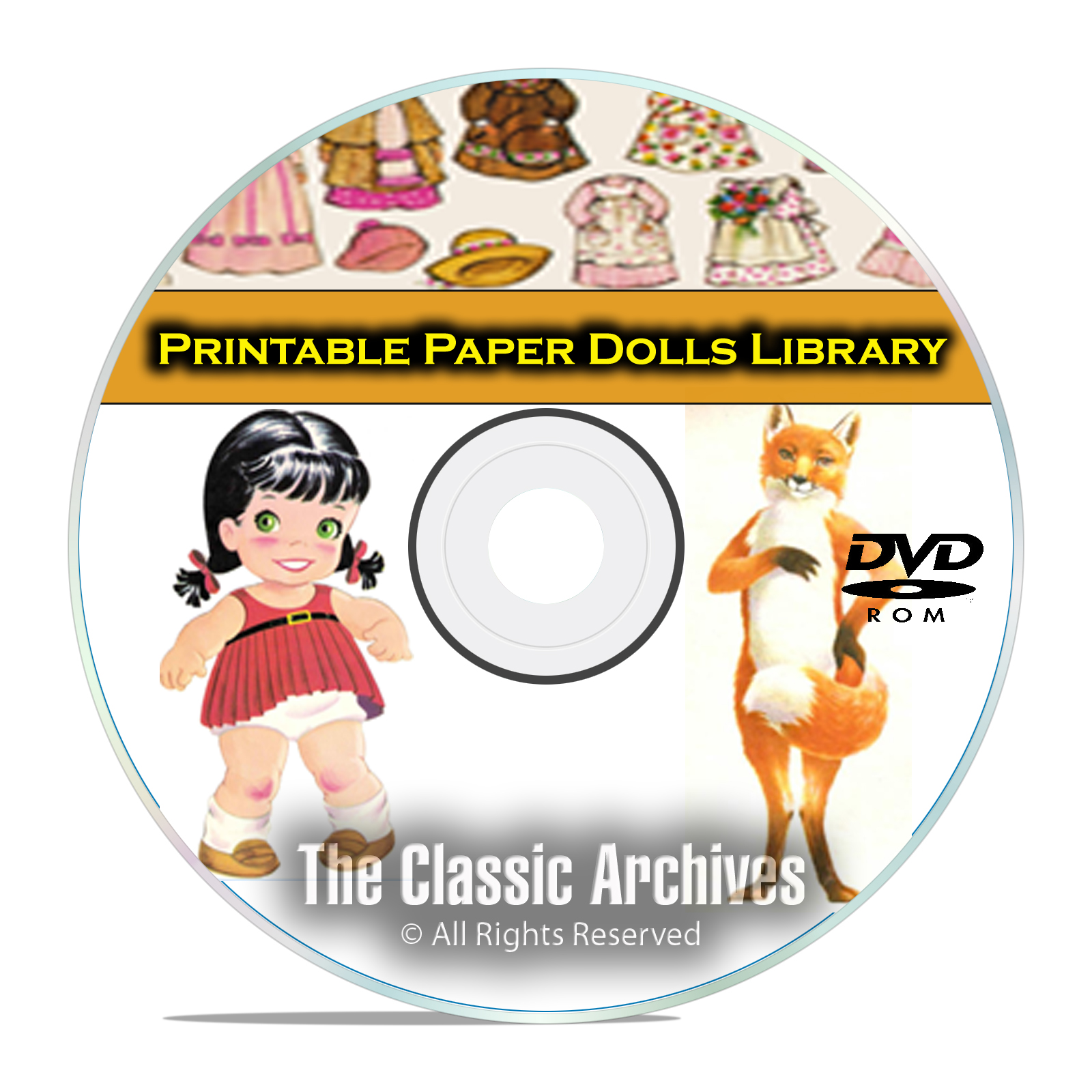 2,000 Plus Printable Paper Dolls Library, McCall Doll, Vintage Baby DVD