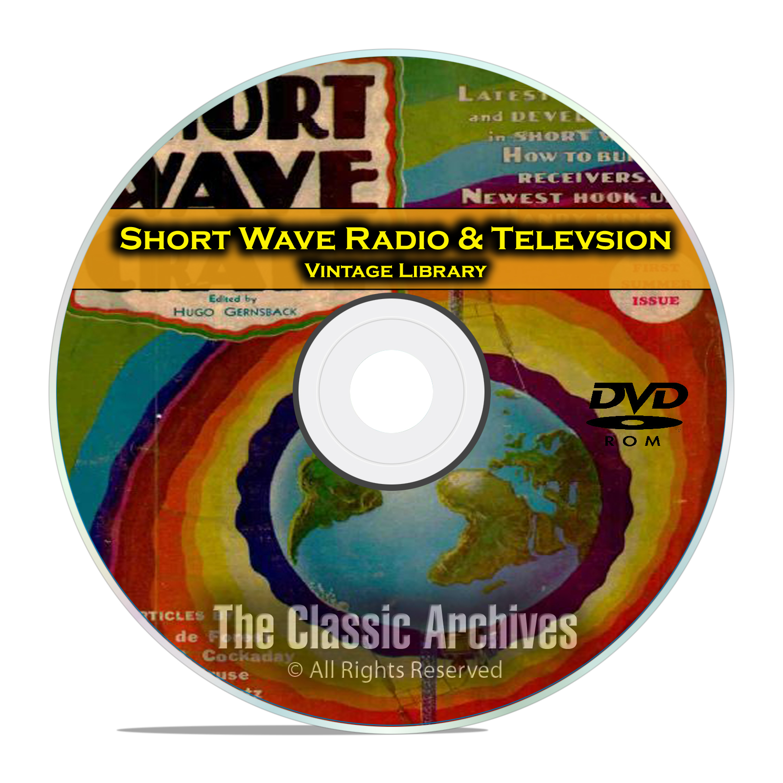 Short Wave Craft, Radio & Television, 125 Vintage Magazines Library CD DVD