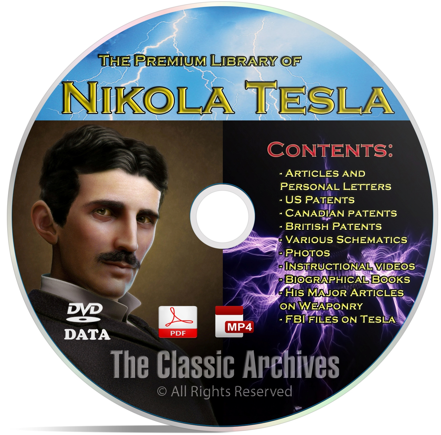 Nikola Tesla 325+ Book Library, Patents, Articles, Alternative Energy DVD