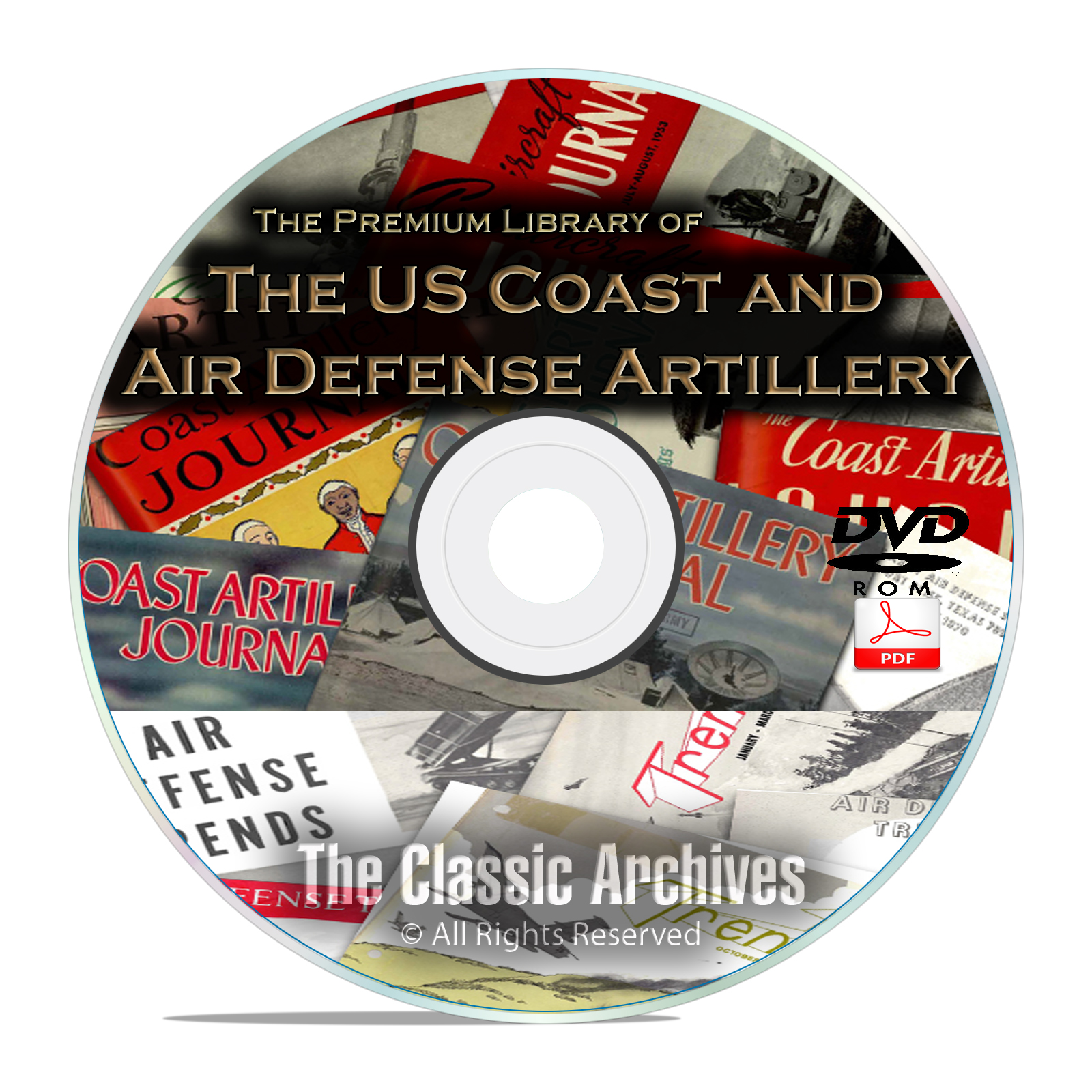 Coast Artillery Journal, Anti Aircraft Air Defense Trends 385 Issues on DVD
