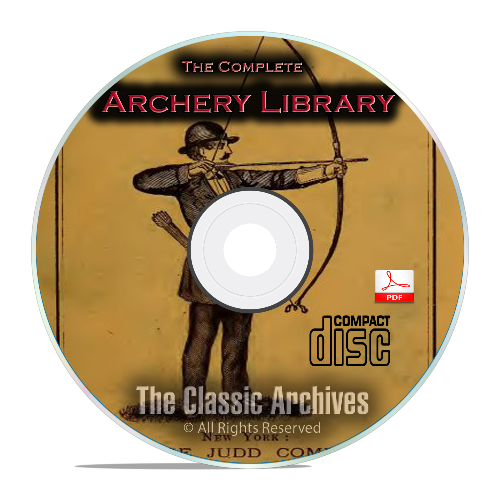 Archery Bow & Arrow Longbow Shortbow Archer Hunting Toxophilus 35 Books CD