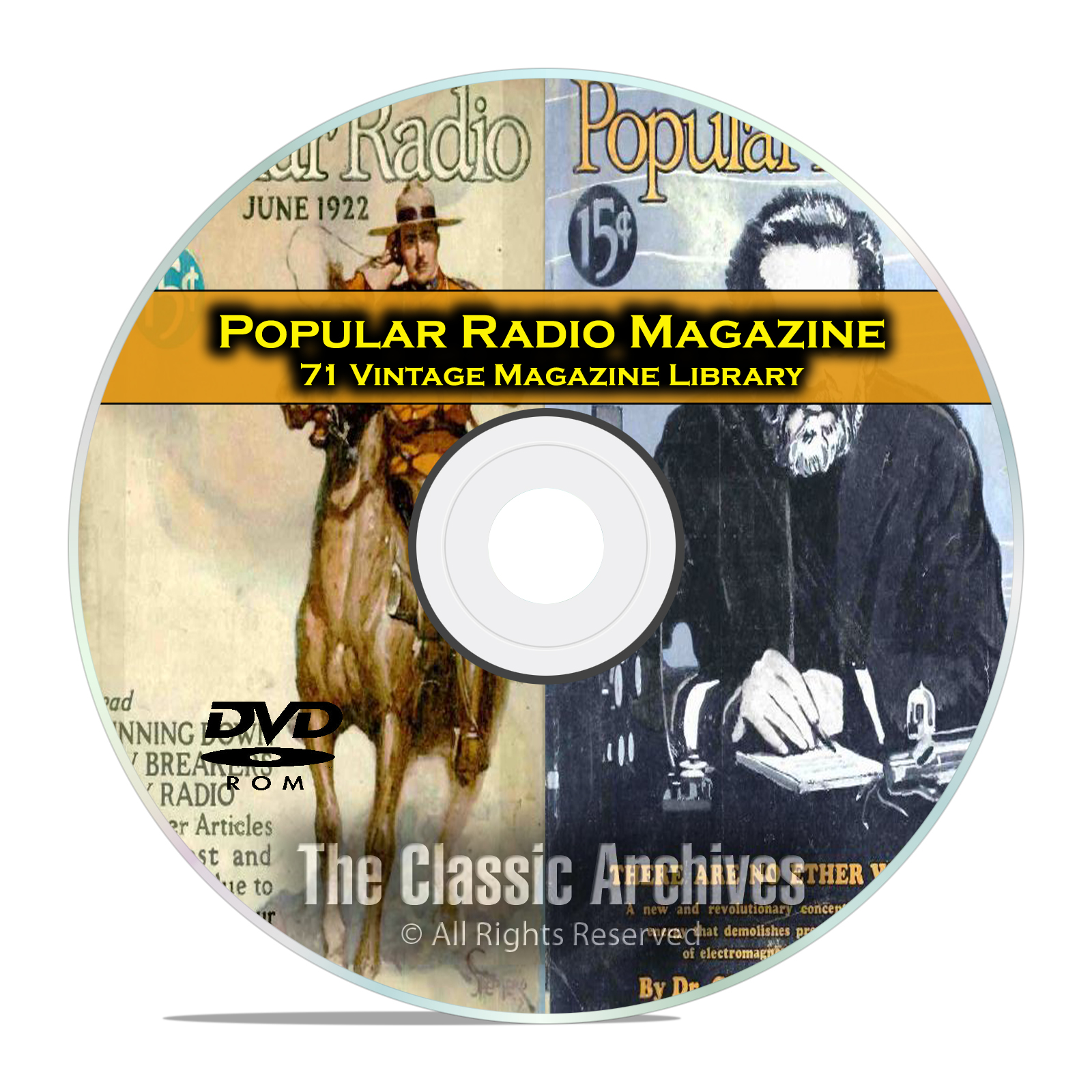 Popular Radio, 71 Vintage Old Time Radio Magazine Collection PDF DVD