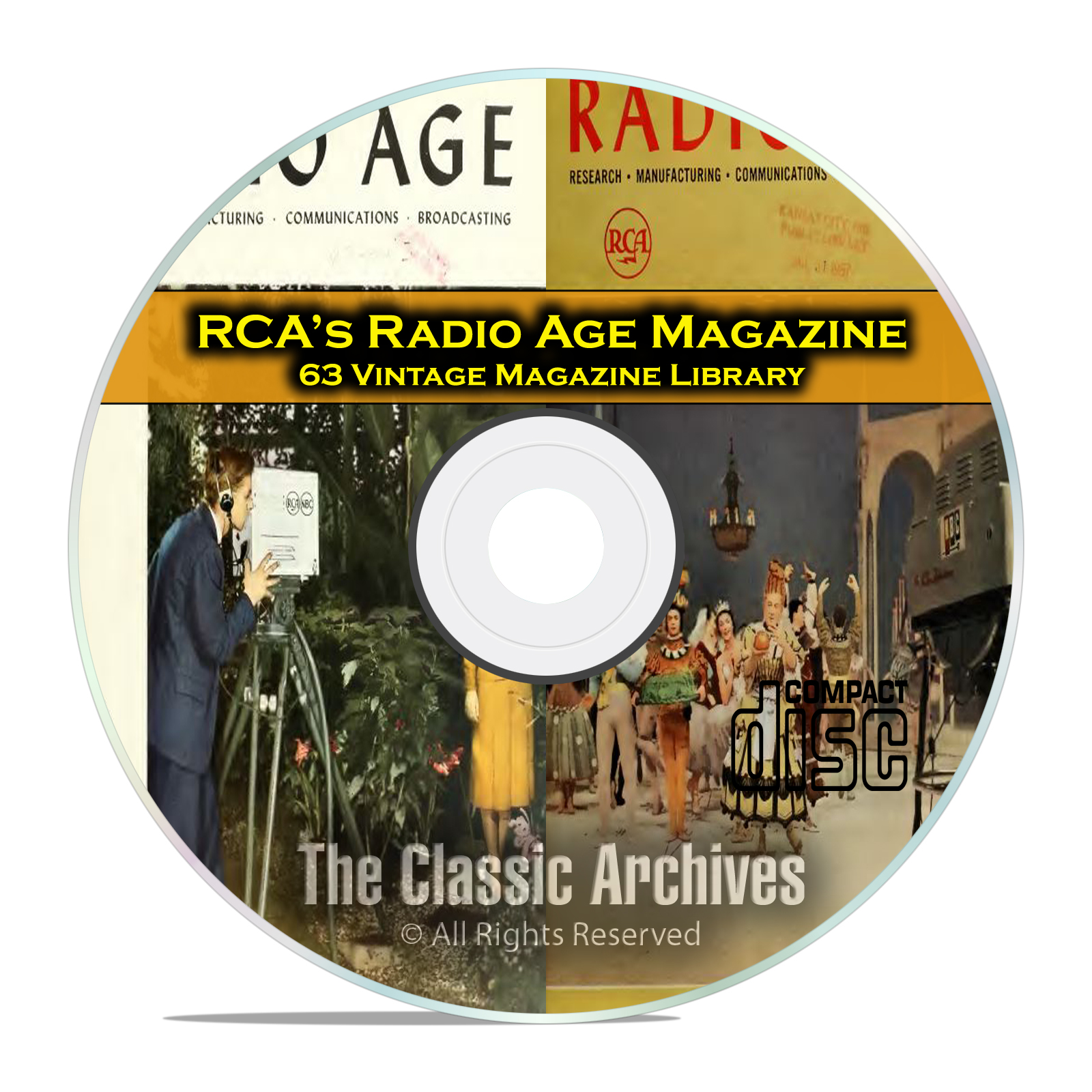 RCA Radio Age, 63 Vintage Old Time Radio Magazine Collection on PDF CD