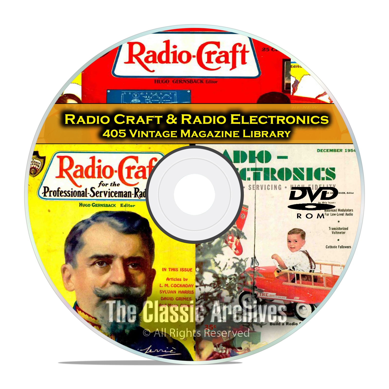 Radio Craft, Radio Electronics, 405 Vintage Radio Magazines in PDF DVD