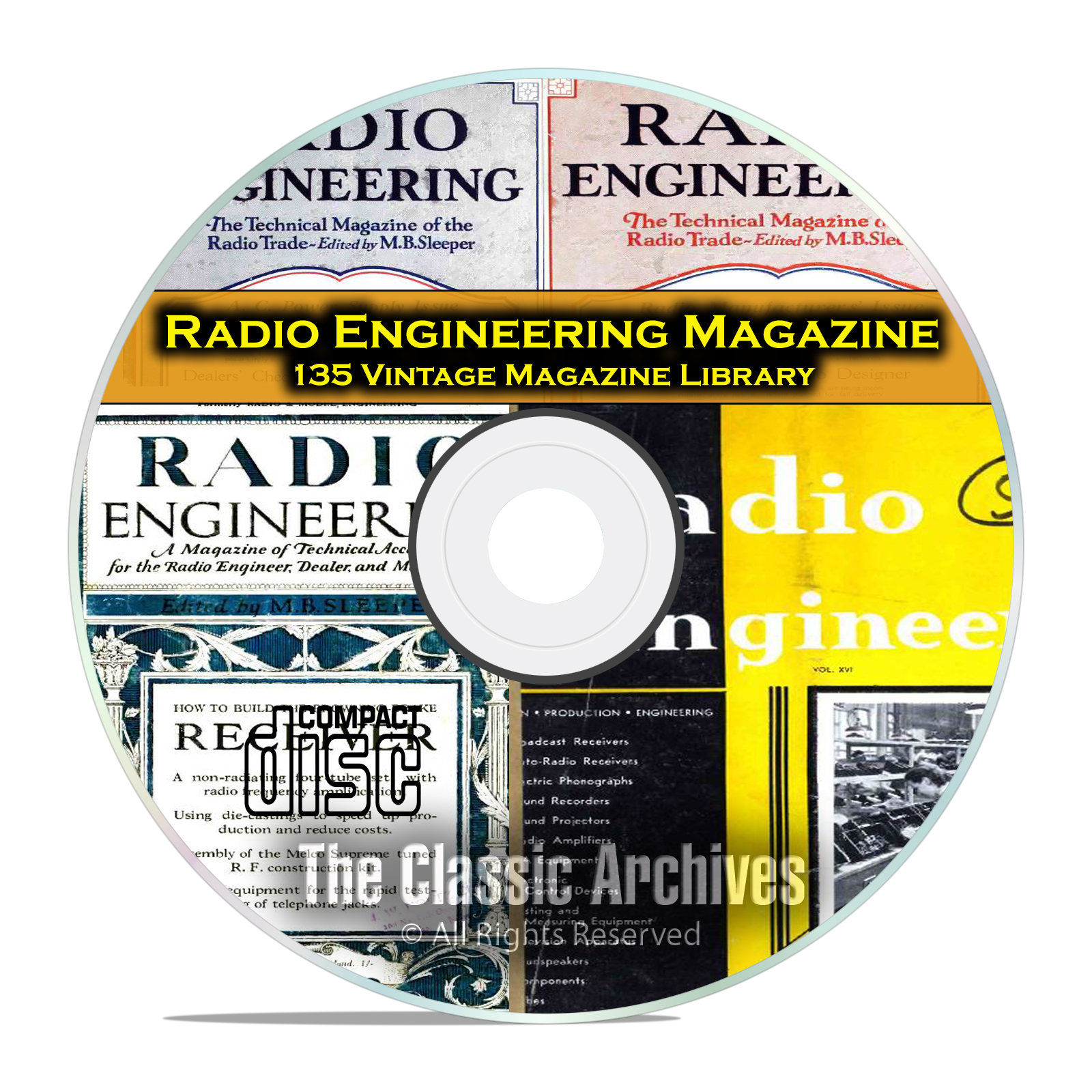 Radio Engineering, 135 Vintage Old Time Radio Magazine Collection PDF CD