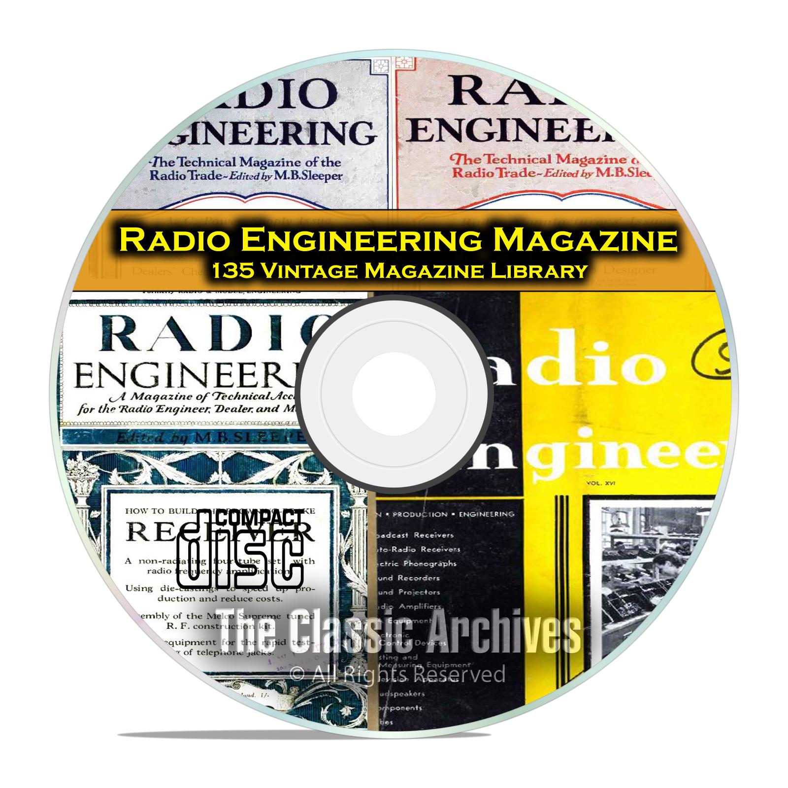 Radio Engineering, 135 Vintage Old Time Radio Magazine