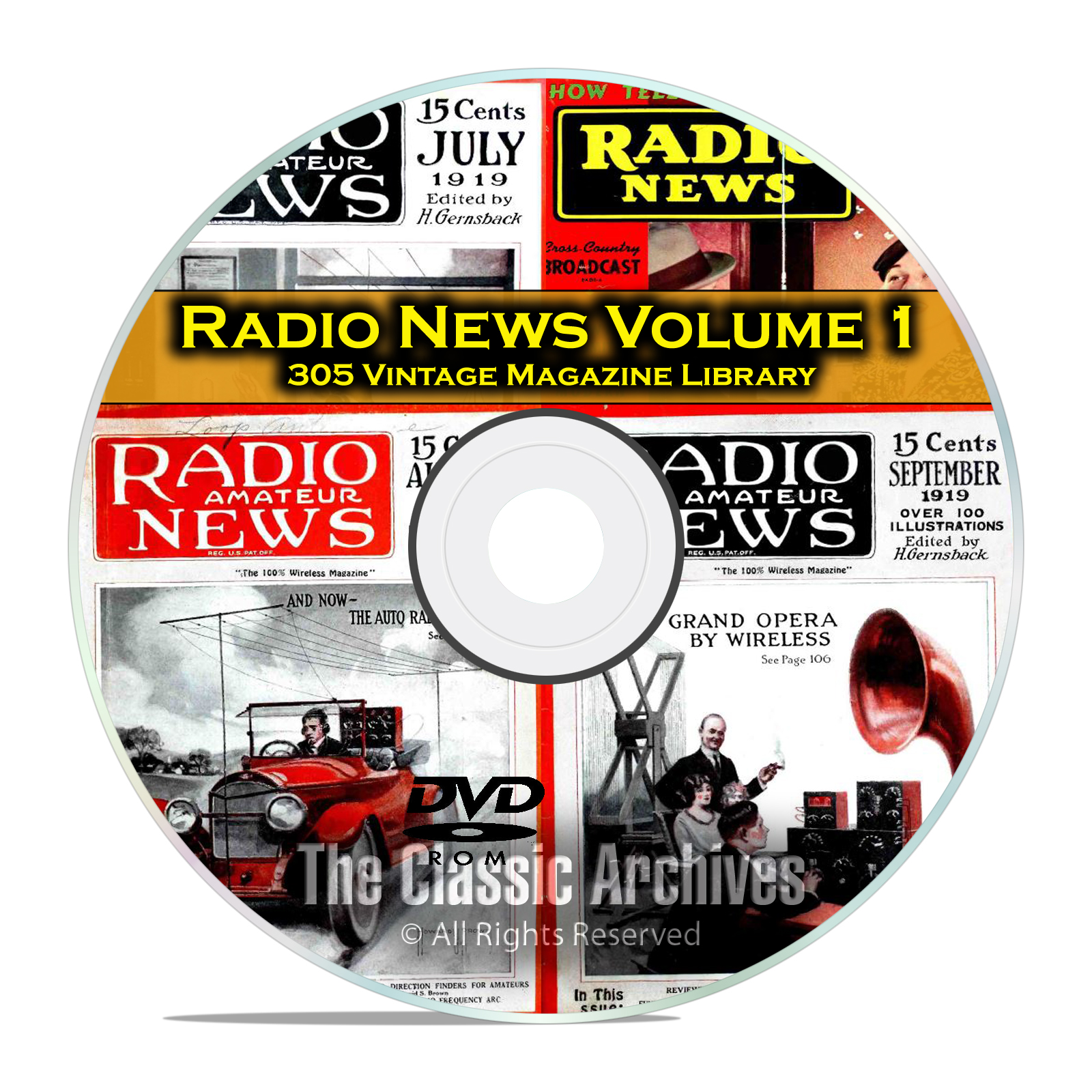 Amateur Radio TV Television News Vol 1, 305 Vintage Magazine Collection DVD