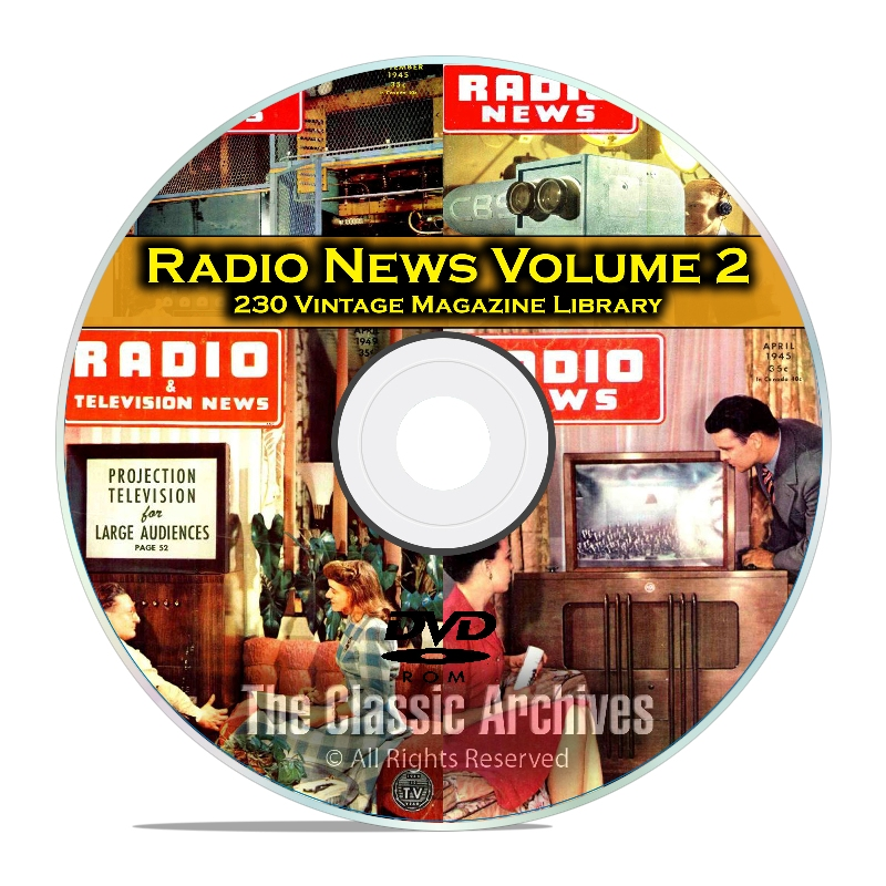 Radio & TV News, Electronics World, Vol 2, 230 Vintage Magazines PDF DVD