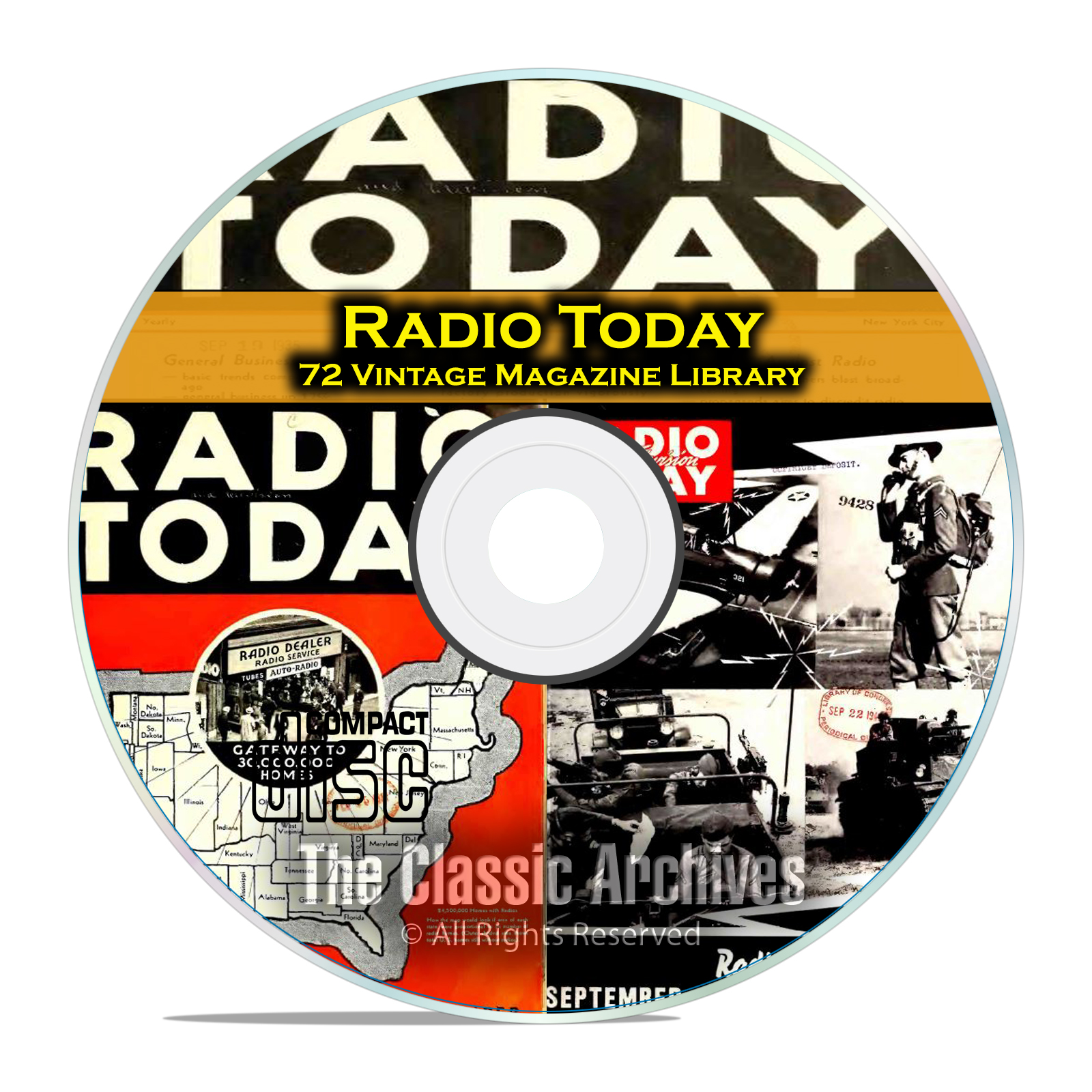 Radio Today, 72 Vintage Old Time Radio Magazine Collection in PDF on CD