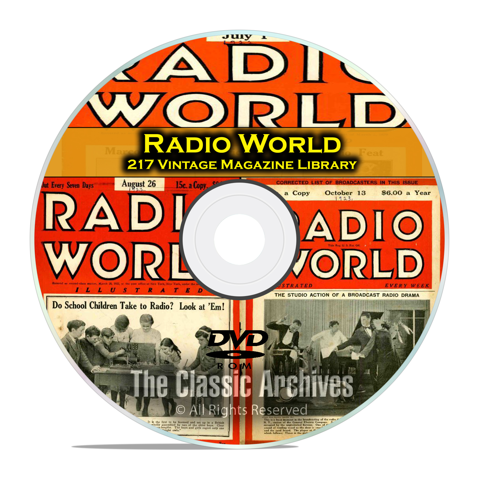 Radio World, 217 Vintage Old Time Radio Magazine Collection in PDF on DVD