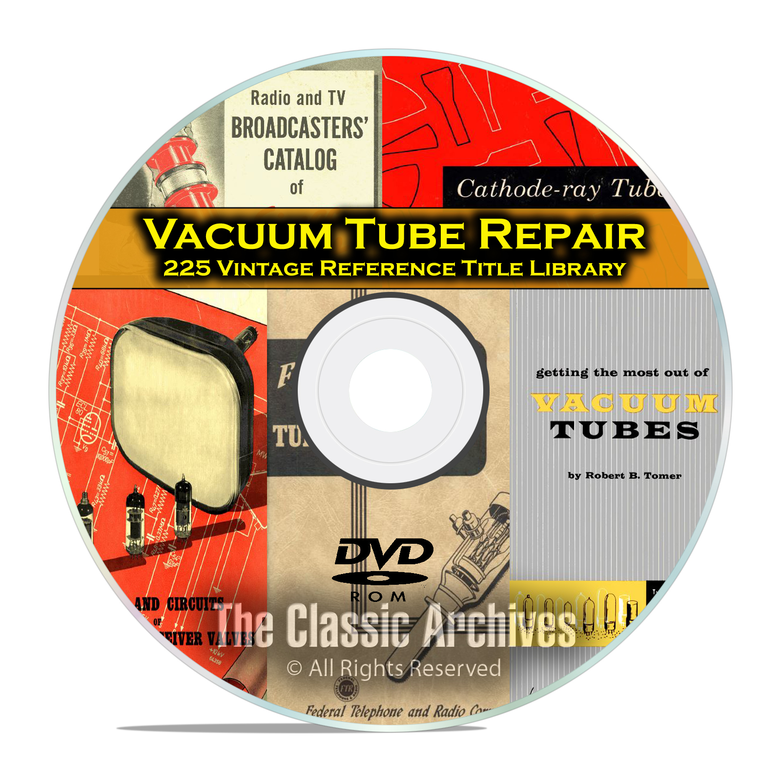 Vacuum Tubes Valves Audio Radio Repair Guides, RCA GE Vintage Reference DVD