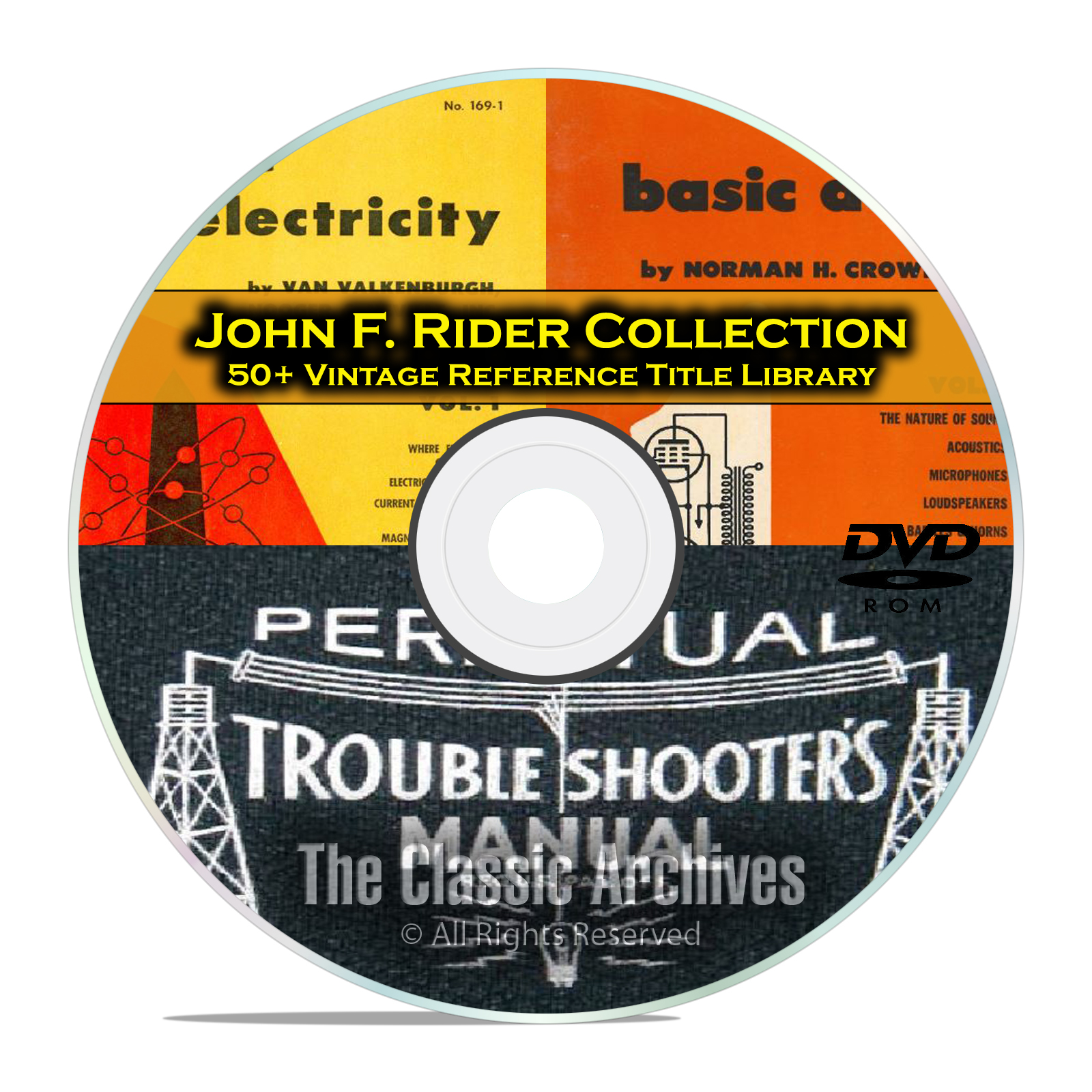 Perpetual Troubleshooters Manual, John Rider's Vintage Radio Schematics DVD
