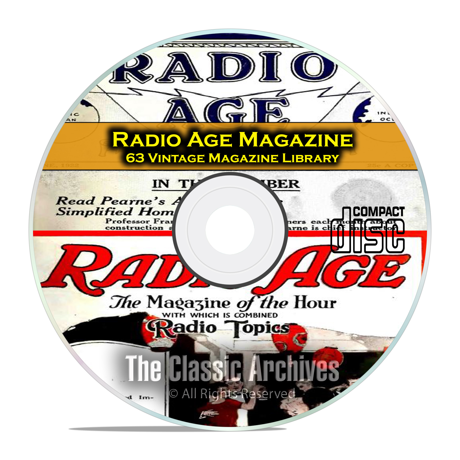 Radio Age Magazine, 63 Vintage Old Time Radio Magazine Collection PDF CD