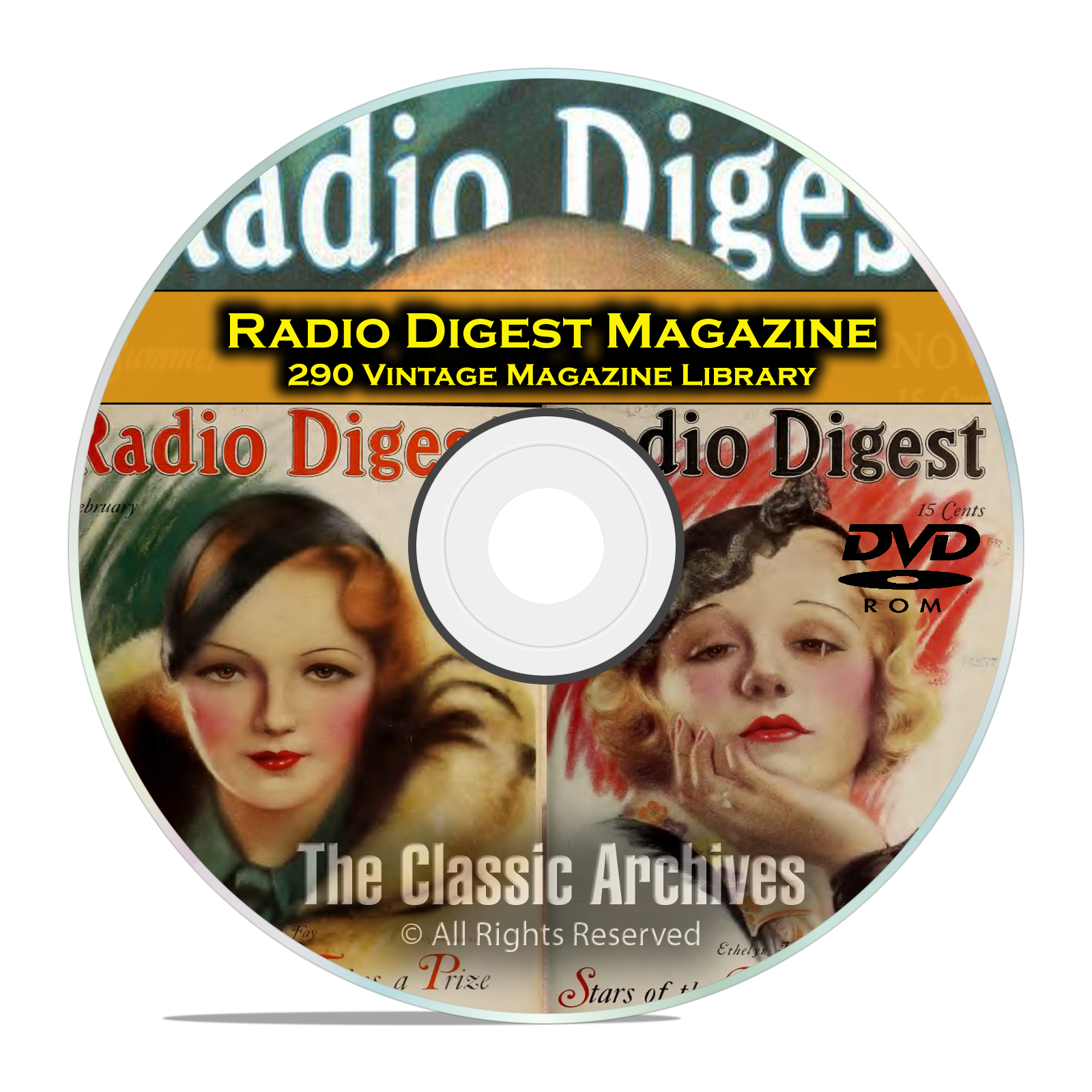 Radio Digest Magazine, 290 Vintage Old Time Radio Magazine Collection DVD