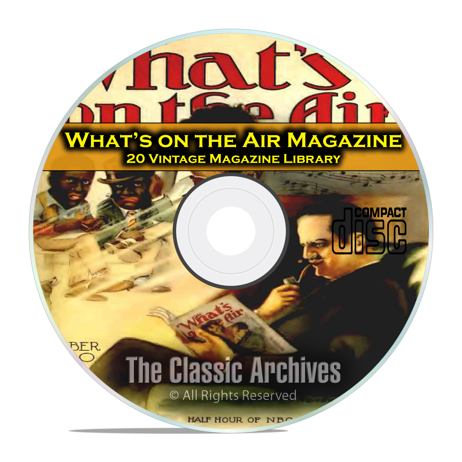 What's On The Air, 20 Vintage Old Time Radio Magazine Collection in PDF CD