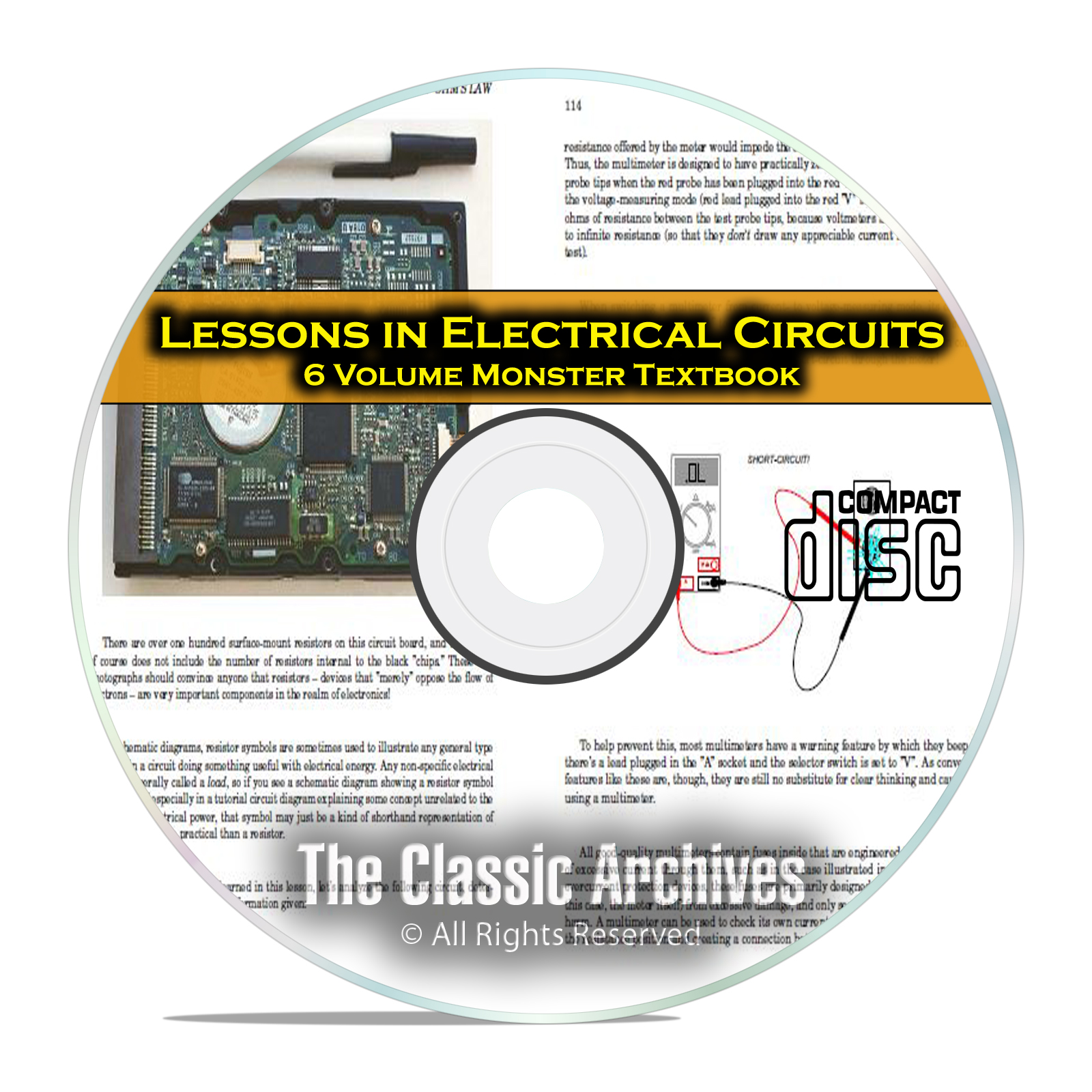 Lessons in Electrical Circuits Electric Electronics 6 Volume Course CD