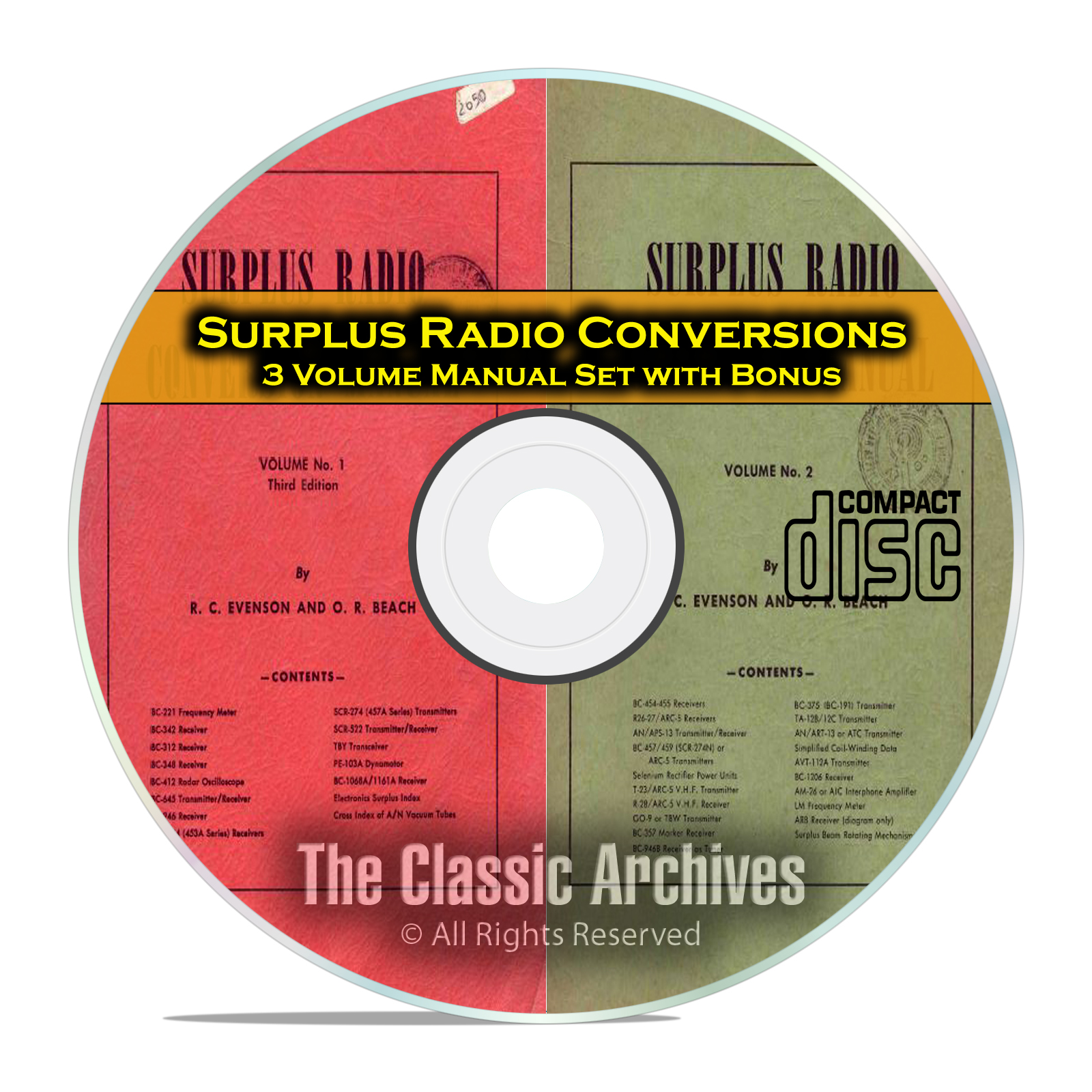 Surplus Radio Conversion Manuals, Old Time Radio Repair and Service CD