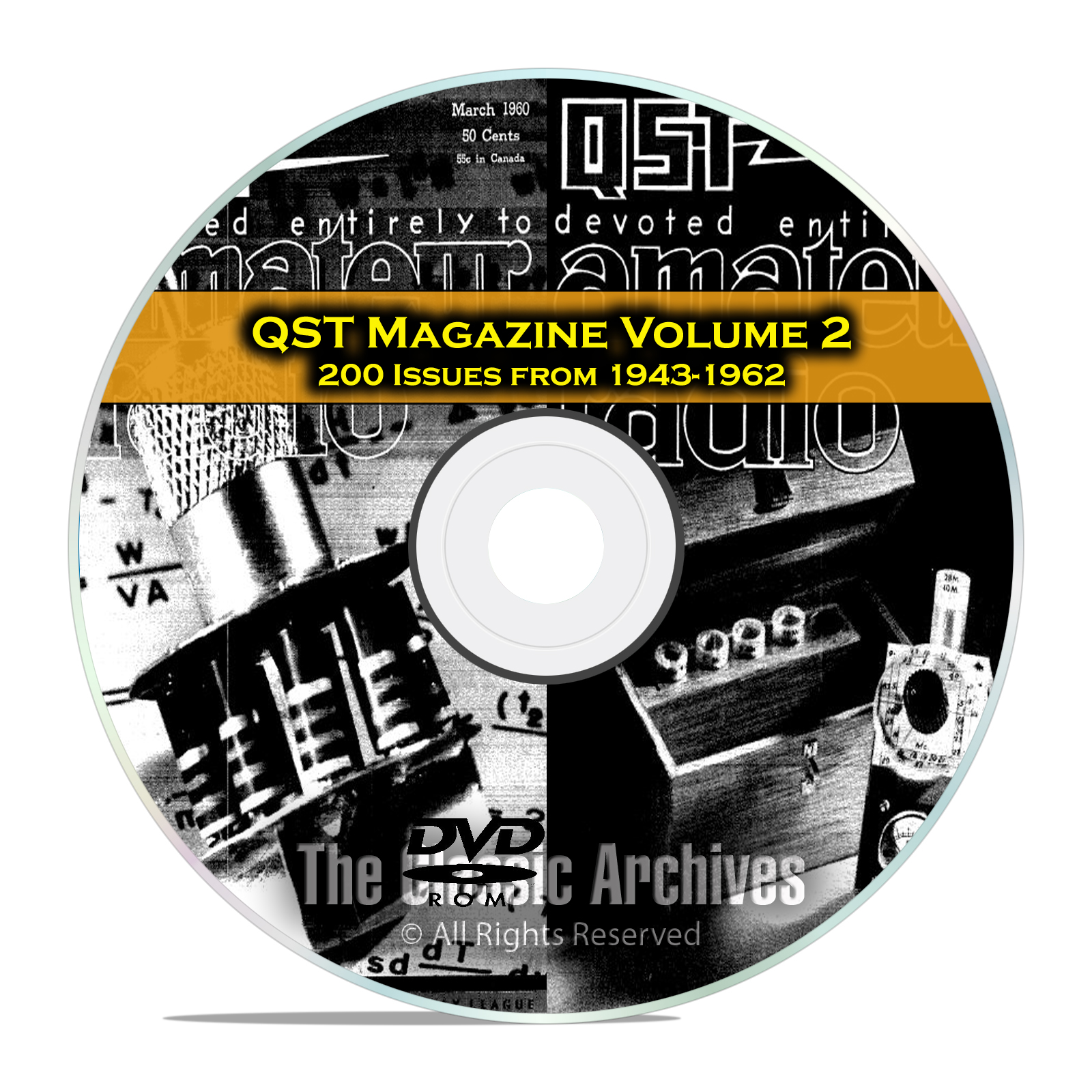 QST Magazine, Volume 2, 200 Vintage Old Time Ham Radio Issues DVD