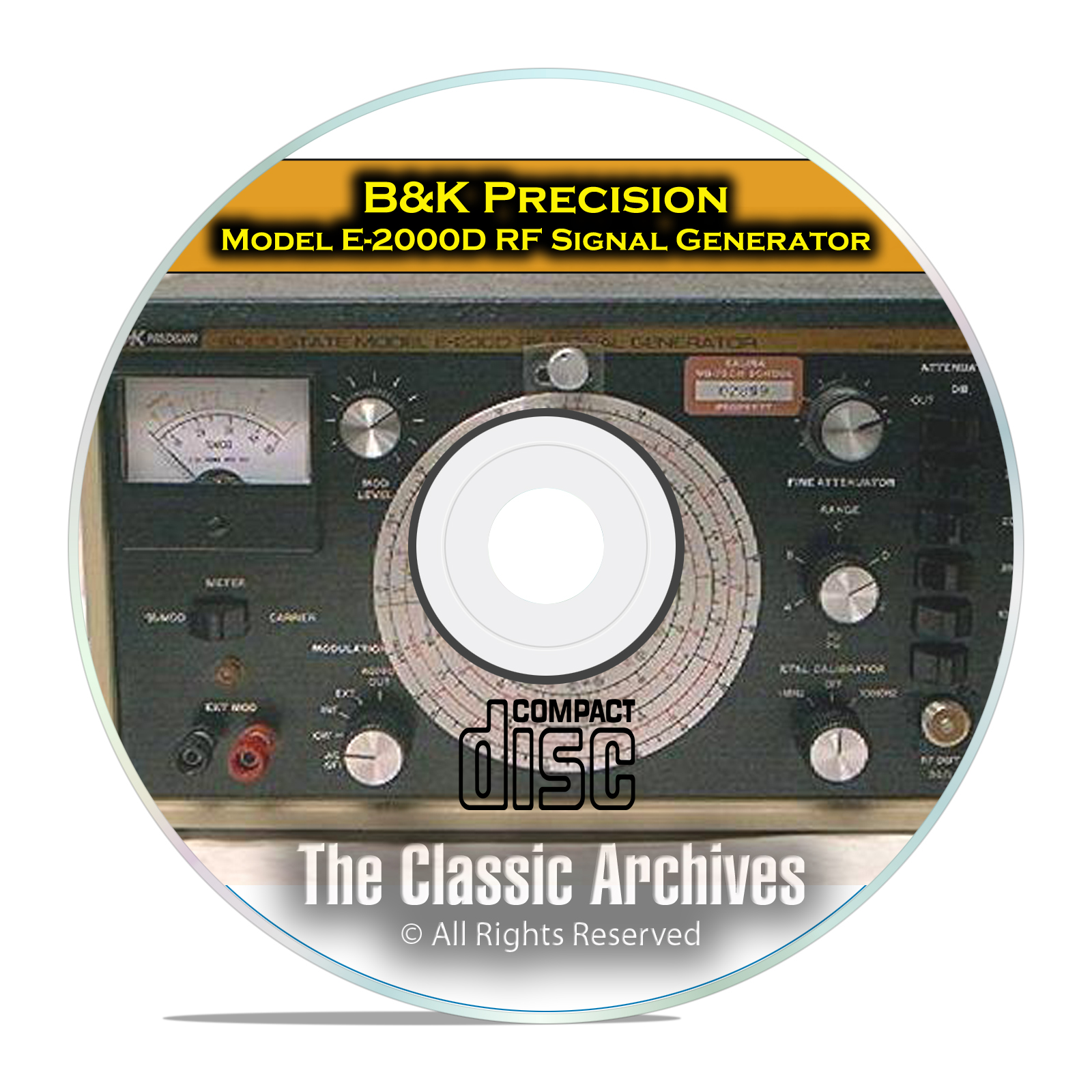 B&K Precision E200D RF Signal Generator Instruction Manual PDF CD