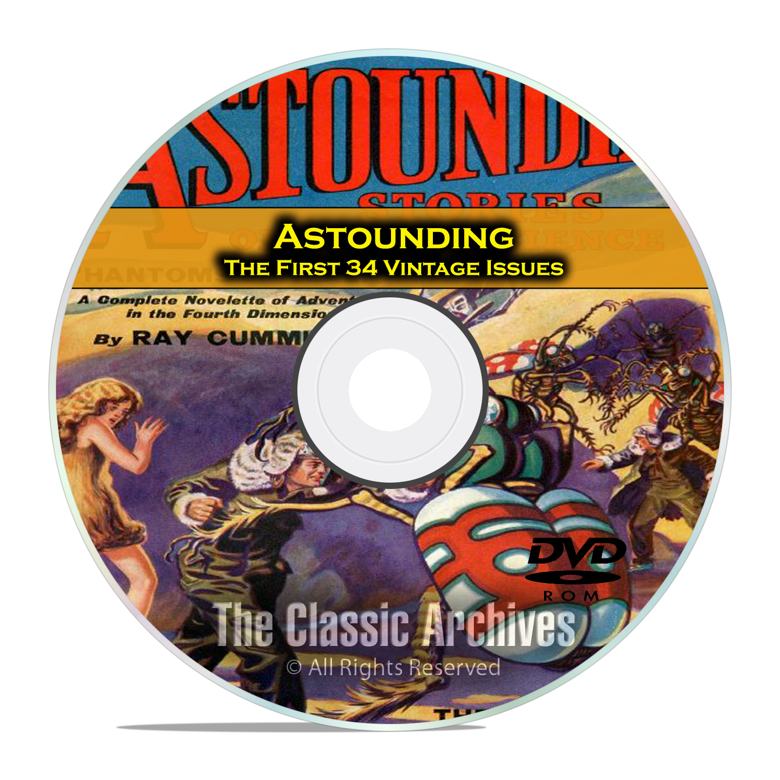 Astounding, First 34 Vintage Pulp Magazine, Golden Age Science Fiction DVD