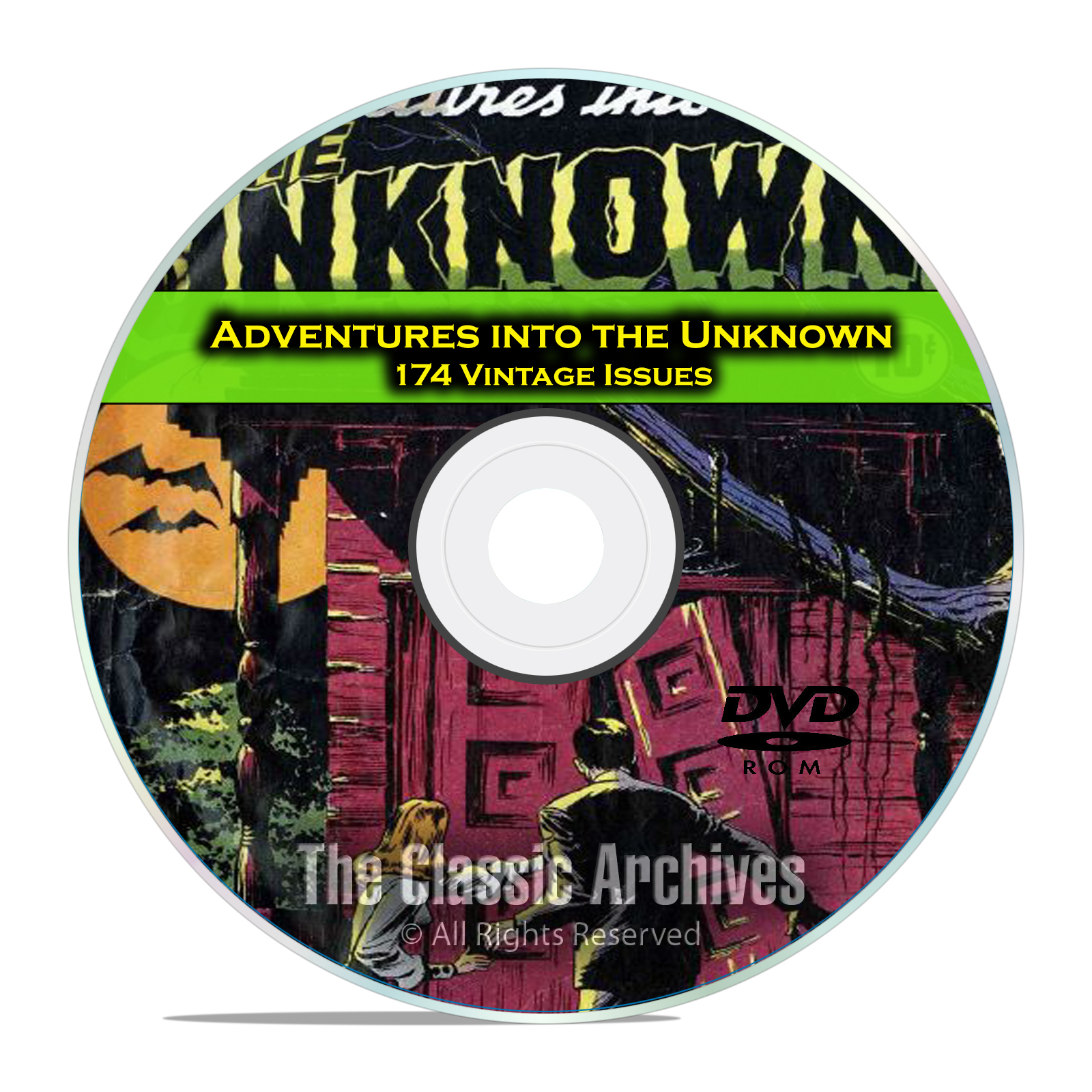Adventures Into The Unknown, 174 Issues Full Run, Old Golden Age Comics DVD