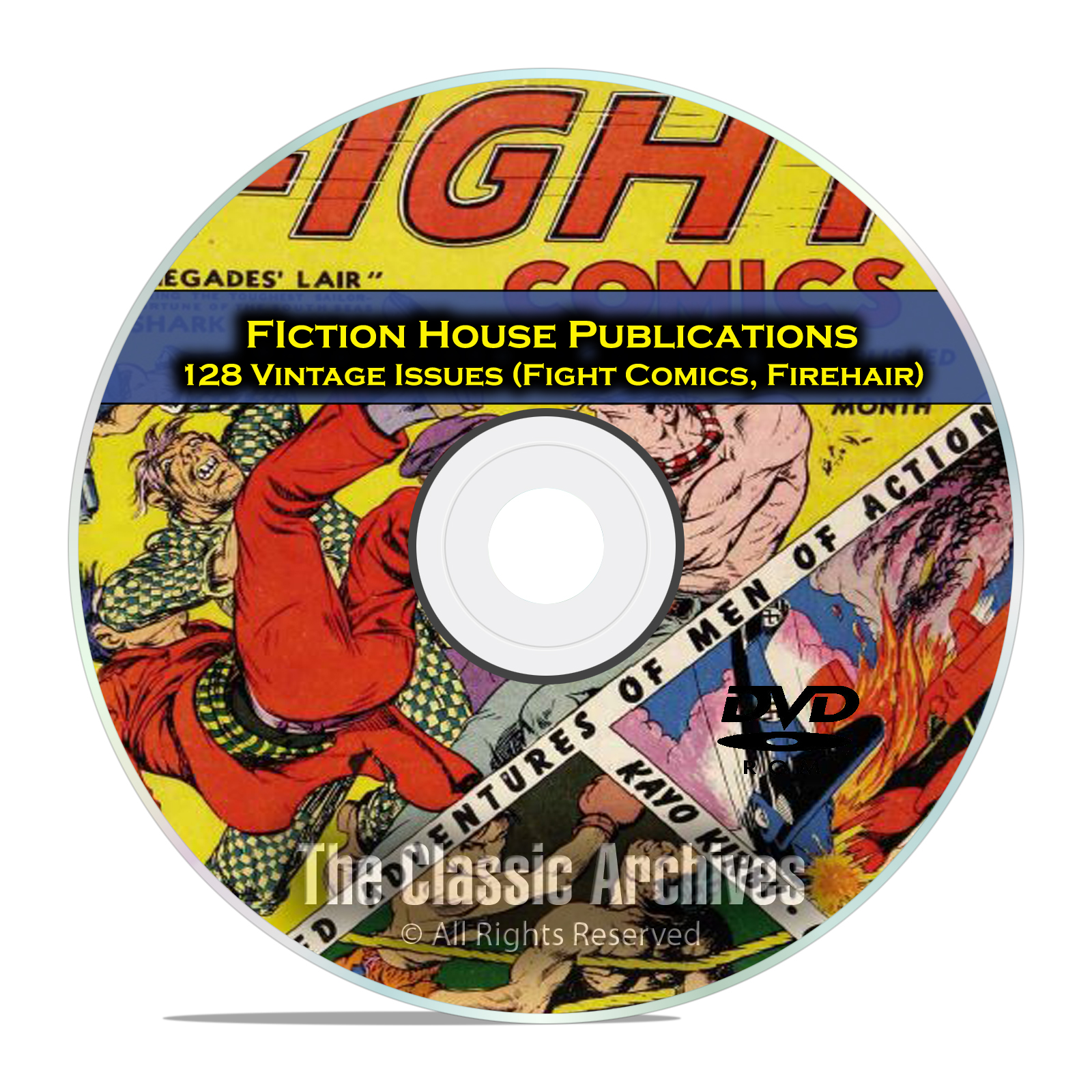 Fight Comics, Firehair Fiction House Wambi Jungle Boy Golden Age Comics DVD