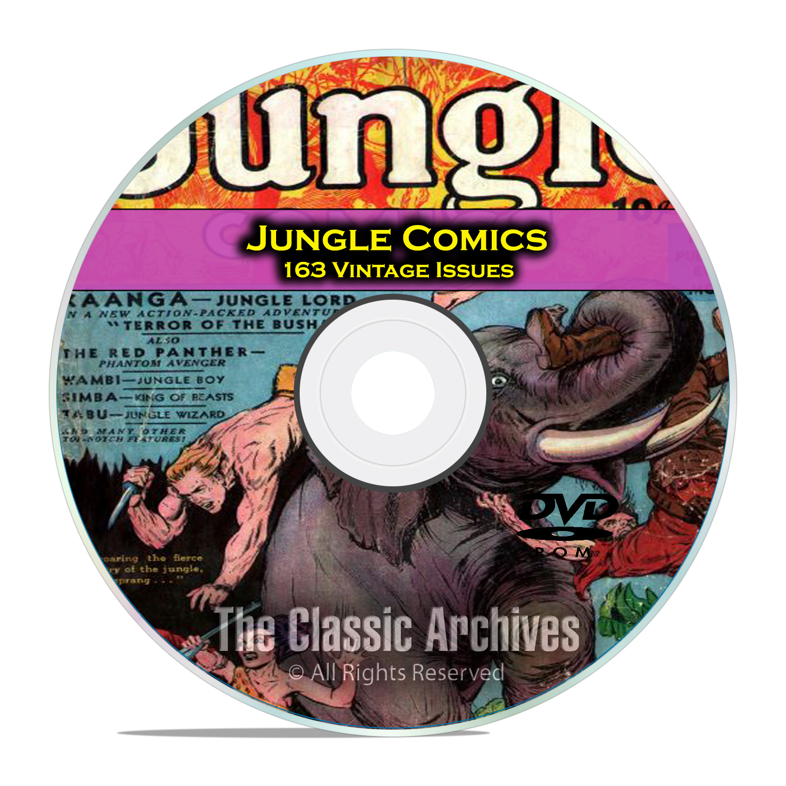 Jungle Comics, Fiction House, Full Run, 163 Issues, Golden Age Comics DVD - Click Image to Close